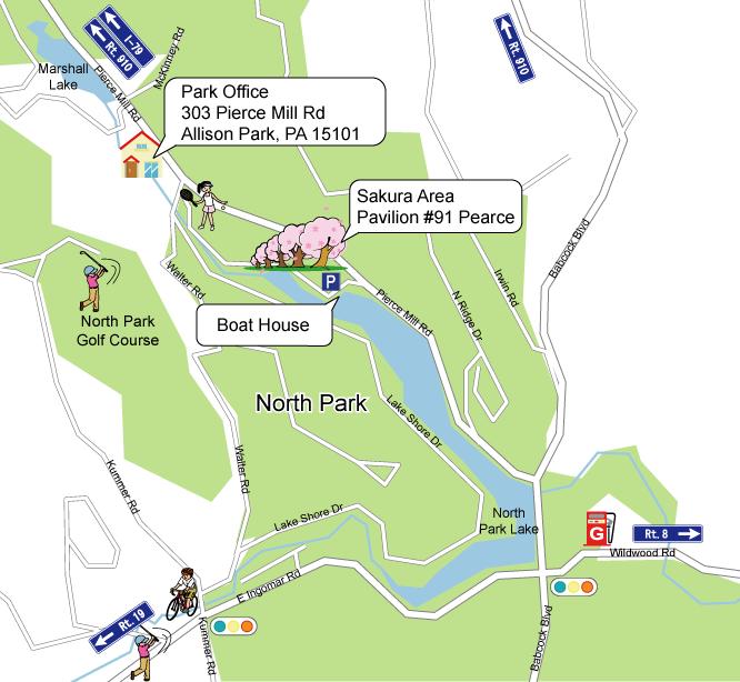 North Park Sakura Map (click to enlarge)